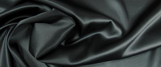 Seide in Stretchqualität - schwarz