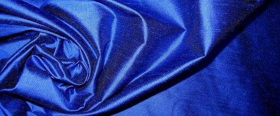 Dupion - blau und schwarz changierend
