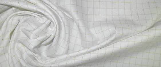 Baumwolle - gelb kariert in weiß