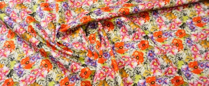Baumwolle - bunte Blumen