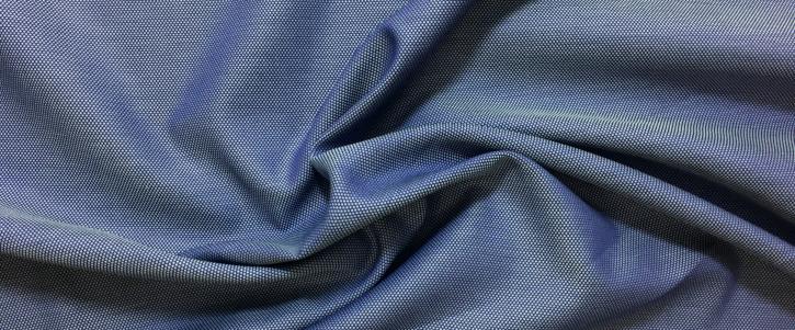 mercerisierte Baumwolle - blau/weiß