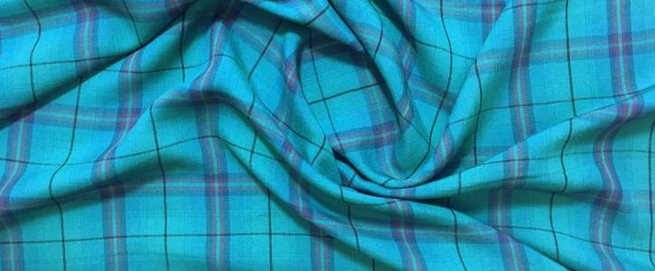 Schottenmuster - blaugrün