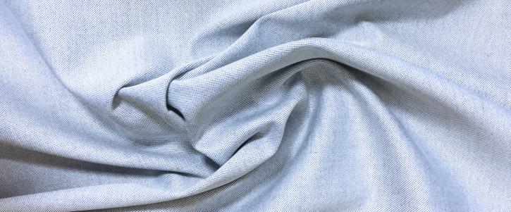 Baumwolle - azur/weiß