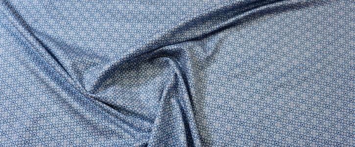 Baumwolle - blaues Porzellanmuster