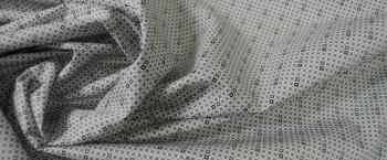 Baumwolle - grau auf weiß