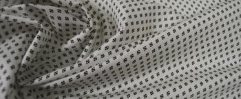 Baumwolle - schwarz auf weiß