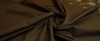 Coupon Baumwolle - braun mit Bogenkanten