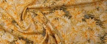 Rest Baumwolle - gelbe Blumen