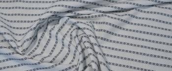 Baumwolle - weiß mit blau