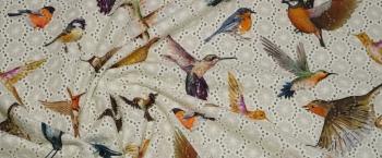 Lochstickerei - Vögel