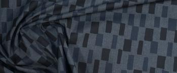 Baumwolle - grau/schwarz