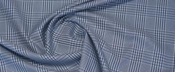 Baumwolle - blaues Glencheck