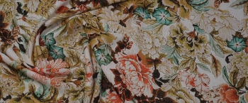 strukturierte Baumwolle - Blumen