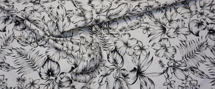 Baumwolle - floral mit Polka dots