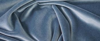 Rest Baumwollsamt - blaugrau