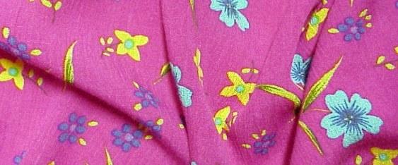 Viskose - Blümchen auf pink