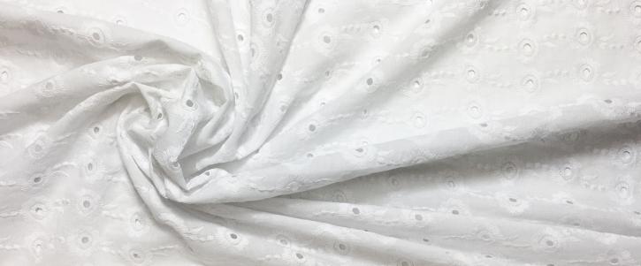 Lochstickerei - weiß