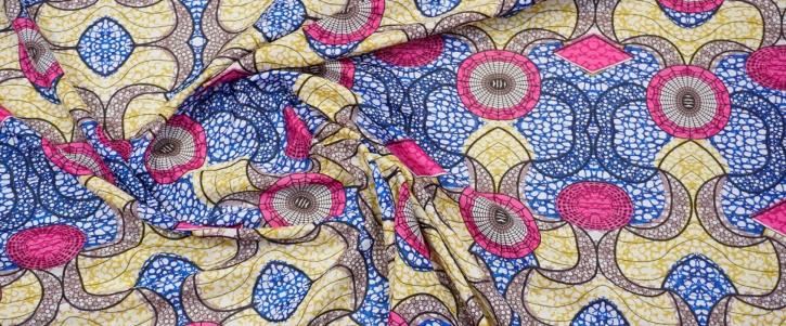 Baumwollbatist - geometrisches Muster