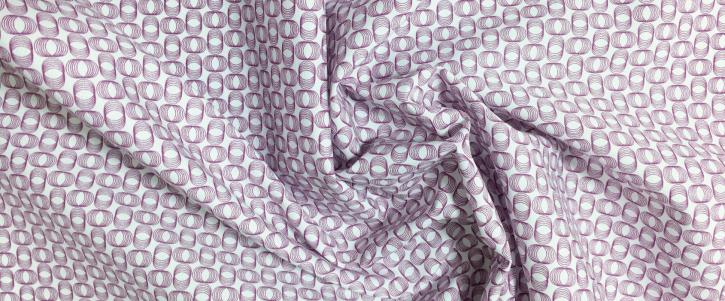 Baumwollstretch - weiß/violett