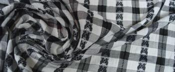 Baumwolle - schwarz und weiß