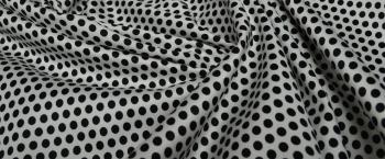 Baumwollstretch - kleine Punkte