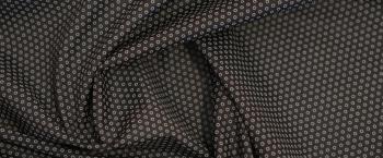 Baumwollstretch - schwarz mit grau