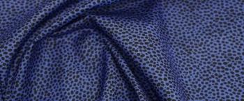 Baumwollstretch - blau und schwarz