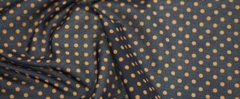 Baumwollstretch - schwarz mit braun