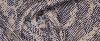 Rest, Baumwollstretch - Schlangenprint