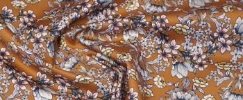 Baumwollstretch - Blumenranken