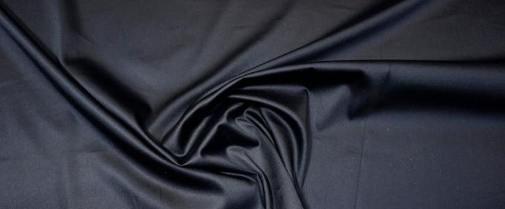 Baumwollstretch - schwarzer Satin