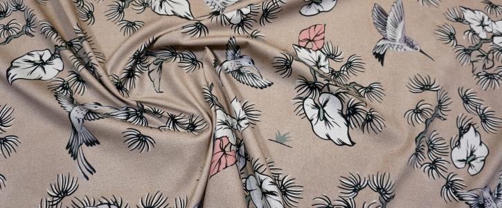Baumwollstretch - Kolibris