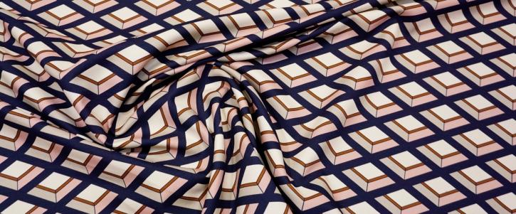 Baumwollstretch - geometisches Muster