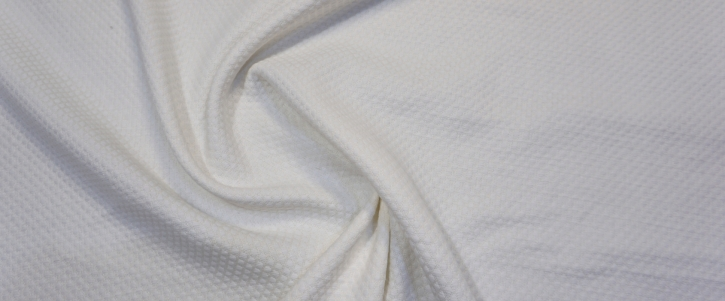 Baumwollcloque - weiß mit creme