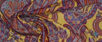 Baumwolle mit Seide - gelb