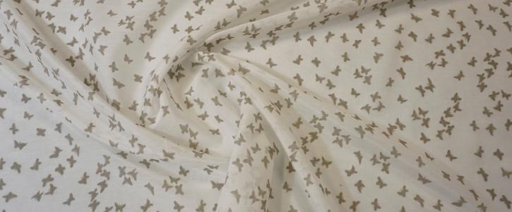 Baumwoll-Seiden-Batist - Schmetterlinge