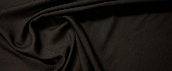 Baumwolle mit Seide - schwarz