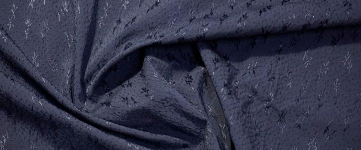 elastischer Jacquard - schwarz