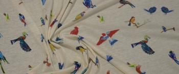 Baumwolljersey - Vögel