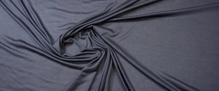 Baumwoll-Kaschmir-Jersey - dunkelblau