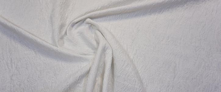 Baumwollmix - Cloque, weiß