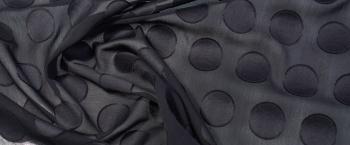 Baumwollmix mit Kreisen - schwarz
