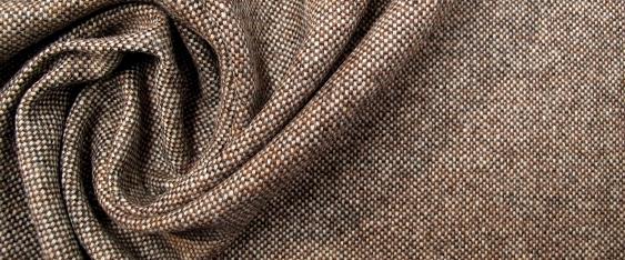Schurwolle - braun und weiß