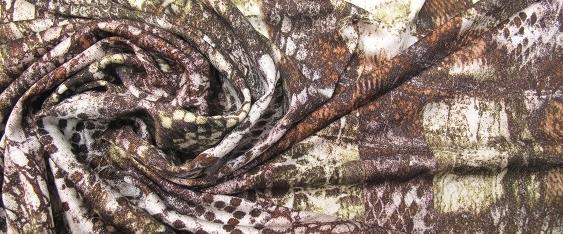Seidenjersey - animal print