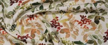 Baumwolle mit Leinen - Floraldruck