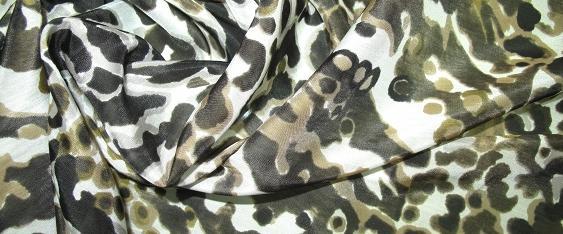 Baumwolle mit Seide - animal print