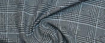 Baumwollmix - blaues Glencheck