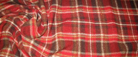 Schurwolle - großes Karo