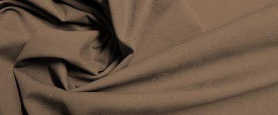 Baumwollstretch - dunkelbraun
