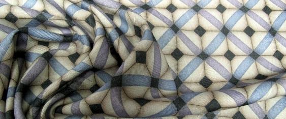 Coupon Schurwolle - geometrisch